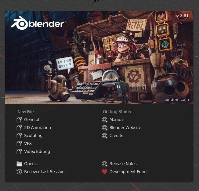 Conheça o Blender 2.81